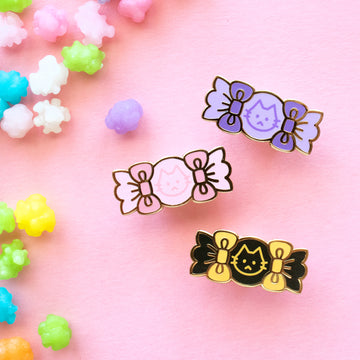Cat Candy Enamel Mini Pin Set