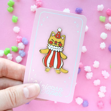 Clown Cat Enamel Pin