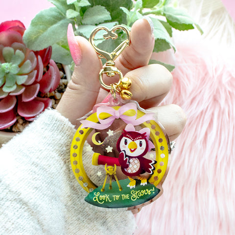 "Animal Crossing: Celeste ""Look to the Stars!"" Keychain"