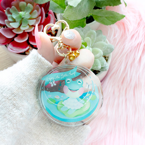 "*PREORDER* Animal Crossing: Lily ""Enjoy the Little Things!""  Keychain"