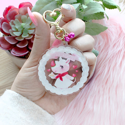 "*PREORDER* Animal Crossing: Merengue ""Stay Sweet!""  Keychain"