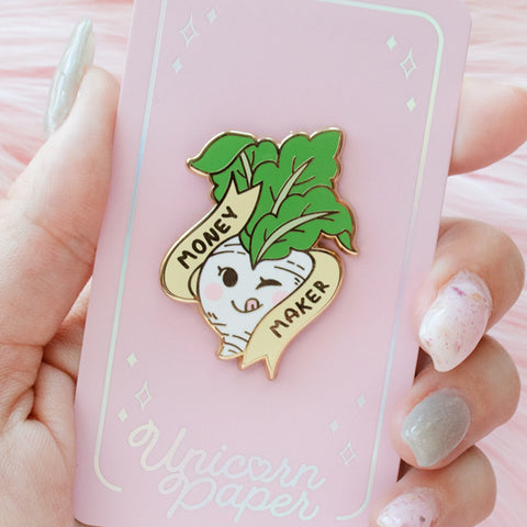 "AC ""Money Maker"" Turnip Pin"