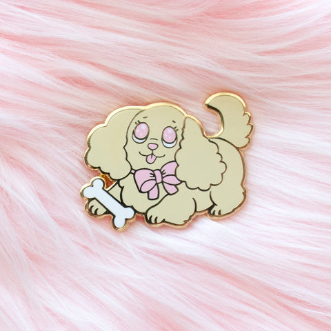 Fluffy Puppy Enamel Pin