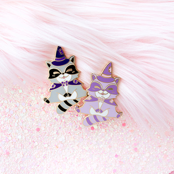 Baby Raccoon Familiar Enamel Pins