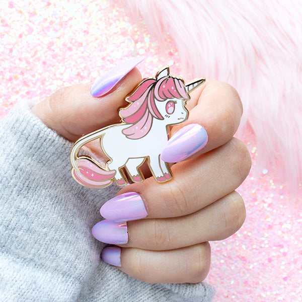 Baby Pink and Blue Unicorn Enamel Pins