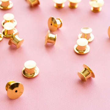 Gold Locking Pin Backings