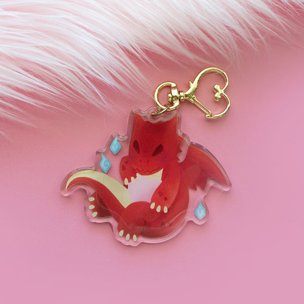 Dragon's Heart Keychain