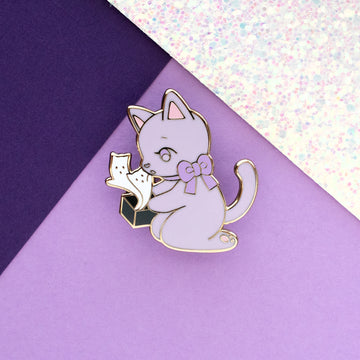 Pawdora's Box Enamel Pin