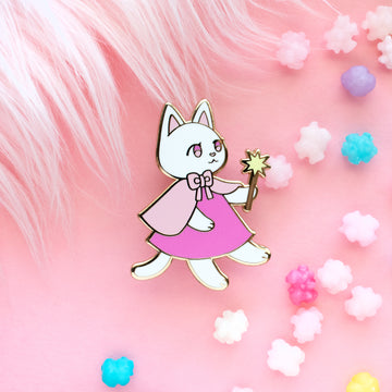 Sugar the Cat Enamel Pin