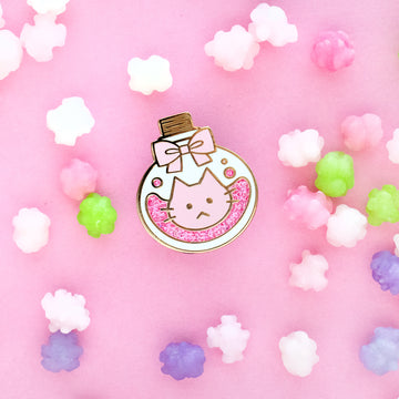 Sugar Cat Potion Bottle Enamel Pin