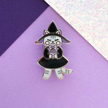 Witchy Kitty Enamel Pin