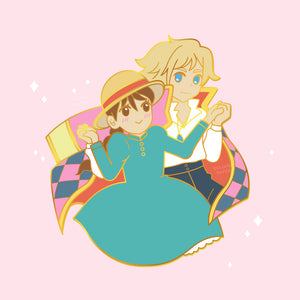 Howl and Sophie Enamel Pin