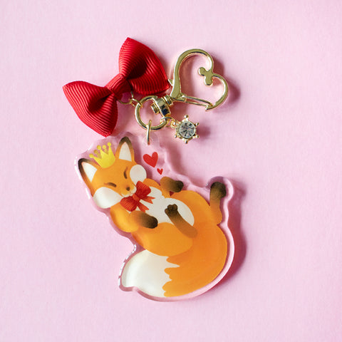 Fox Prince Tiny Companion Keychain