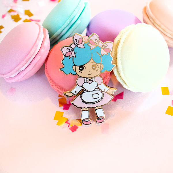 Pink Bakery Waitress Enamel Pin
