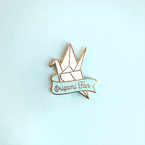 Origami Fan Enamel Pin