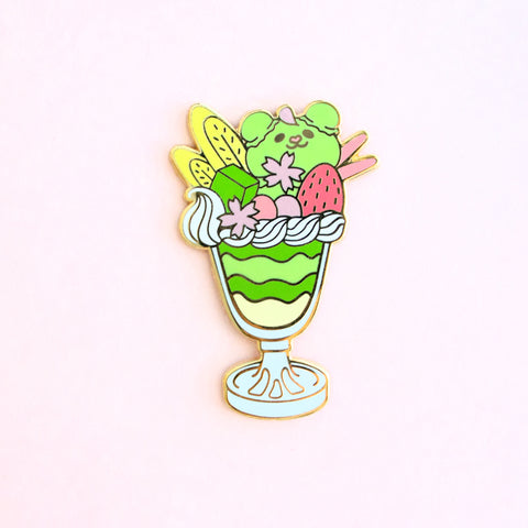 Puppy-Bear Parfait Enamel Pin