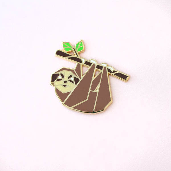 Origami Sloth Enamel Pin