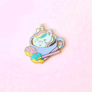 Unicorn Latte Enamel Pin