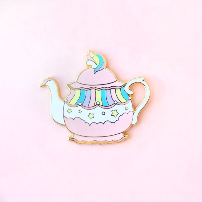Unicorn Tea Pot Enamel Pin
