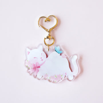 Limited Edition Spring Cat Keychain