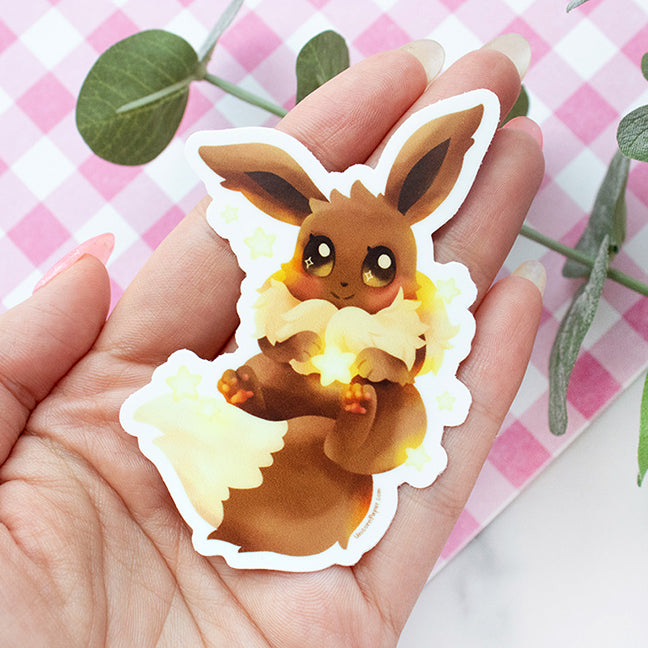 PKMN Starry Eevee Waterproof Vinyl Sticker