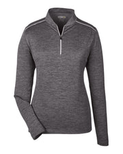 Ladies' Kinetic Performance Quarter-Zip-Antimicrobial & UV Protection