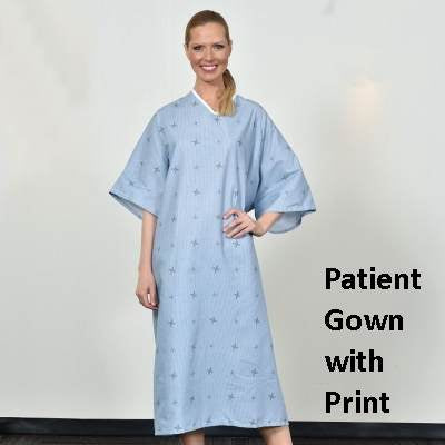 Patient Gown with Print Design