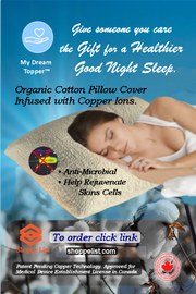 MyDreamTopper-Pillow Cover Infused with Copper Ions.  Limited time offer.