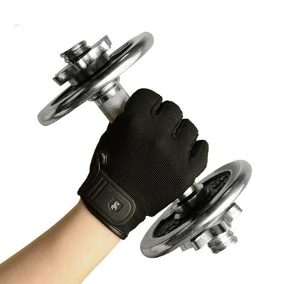 Leather Half Finger Sport Gym Gloves
