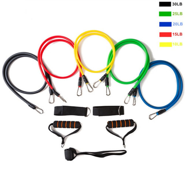 11Pcs/Set Gym Door Rubber Bands