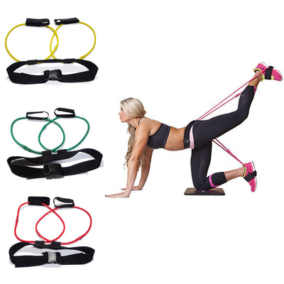 Waist Adjustable Belt with attached Resistance Bands