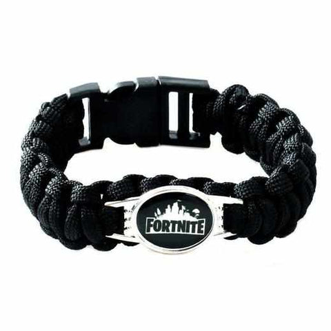 Loot Llama Fortnite - Black Fortnite Rope Bracelet