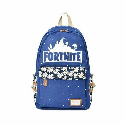 Loot Llama Fortnite - Blue Floral Fortnite Backpack