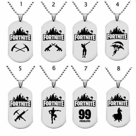 Loot Llama Fortnite - Dog Tag Metal Pendants & Necklaces