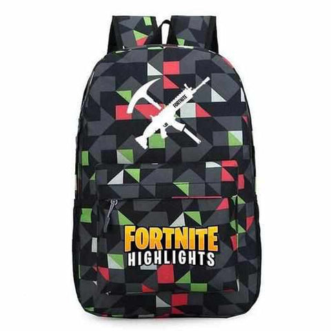 Loot Llama Fortnite - Geometric Black Fortnite Backpack