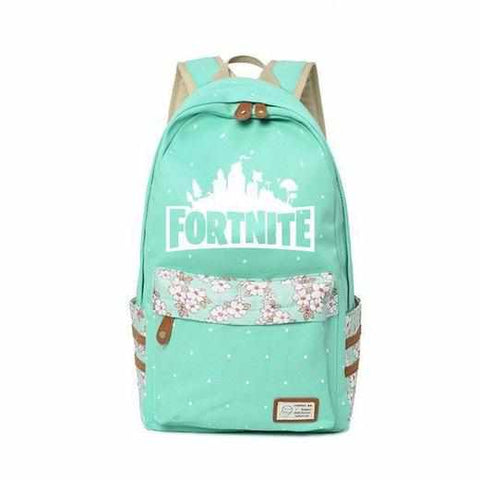 Loot Llama Fortnite - Green Floral Fortnite Backpack