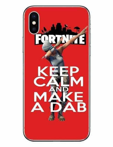 Loot Llama Fortnite - Red Keep Calm iPhone Case