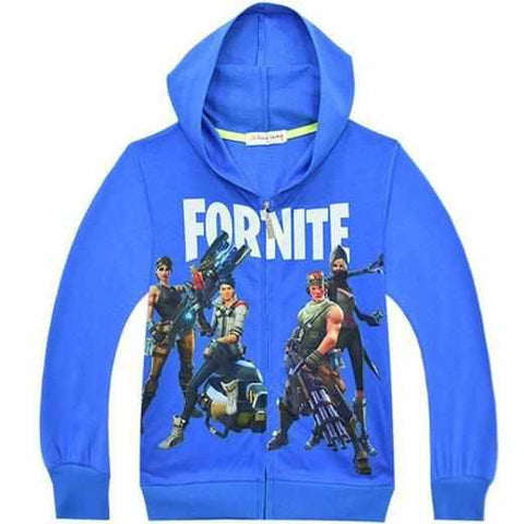 Loot Llama Fortnite - Kids Blue Zip-Up Fortnite Hoodie