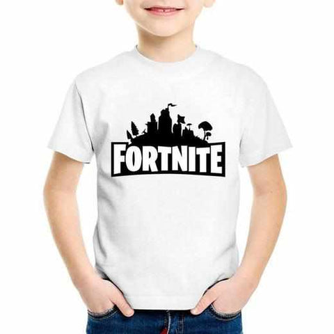 Loot Llama Fortnite - Kids White Fortnite Logo T-Shirt