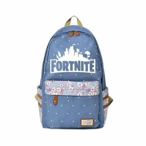 Loot Llama Fortnite - Light Blue Floral Fortnite Backpack