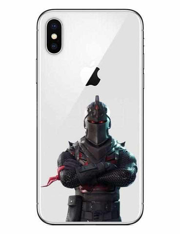 White Black Knight iPhone Case