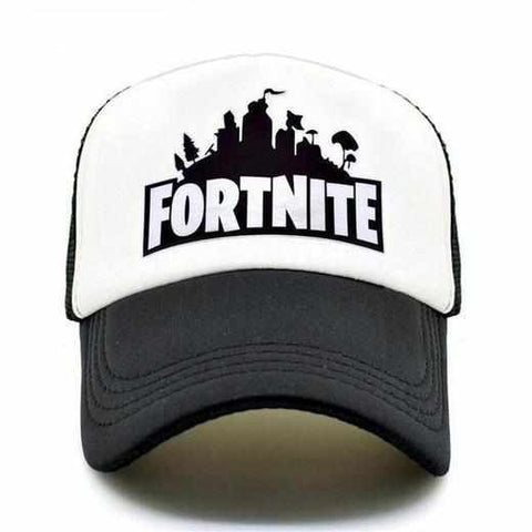 Loot Llama Fortnite - White Black Fortnite Trucker Hat