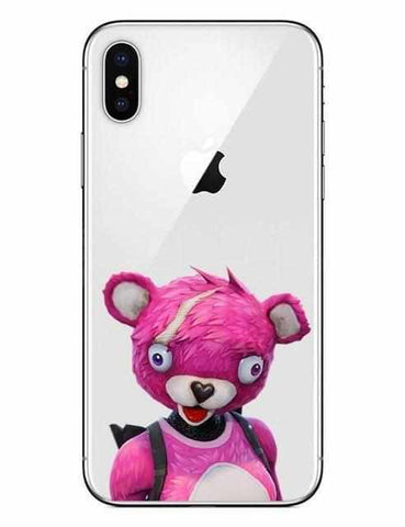 Loot Llama Fortnite - White Cuddle Team Leader iPhone Case