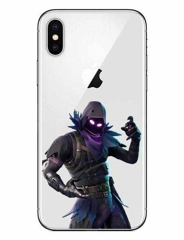 Loot Llama Fortnite - White Raven iPhone Case