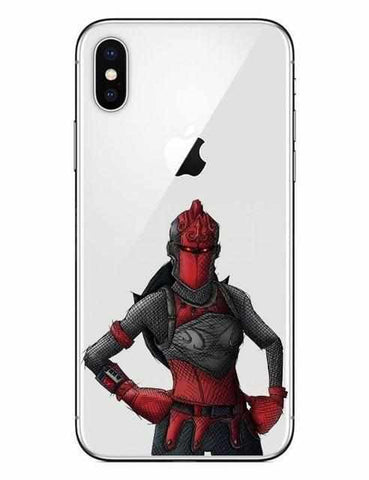 Loot Llama Fortnite - White Red Knight iPhone Case