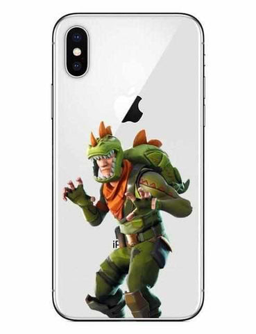 Loot Llama Fortnite - White Rex iPhone Case