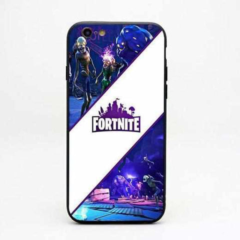 Loot Llama Fortnite - White Stripe Fortnite iPhone Case