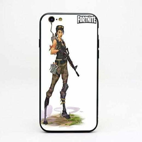 Loot Llama Fortnite - White Trooper iPhone Case