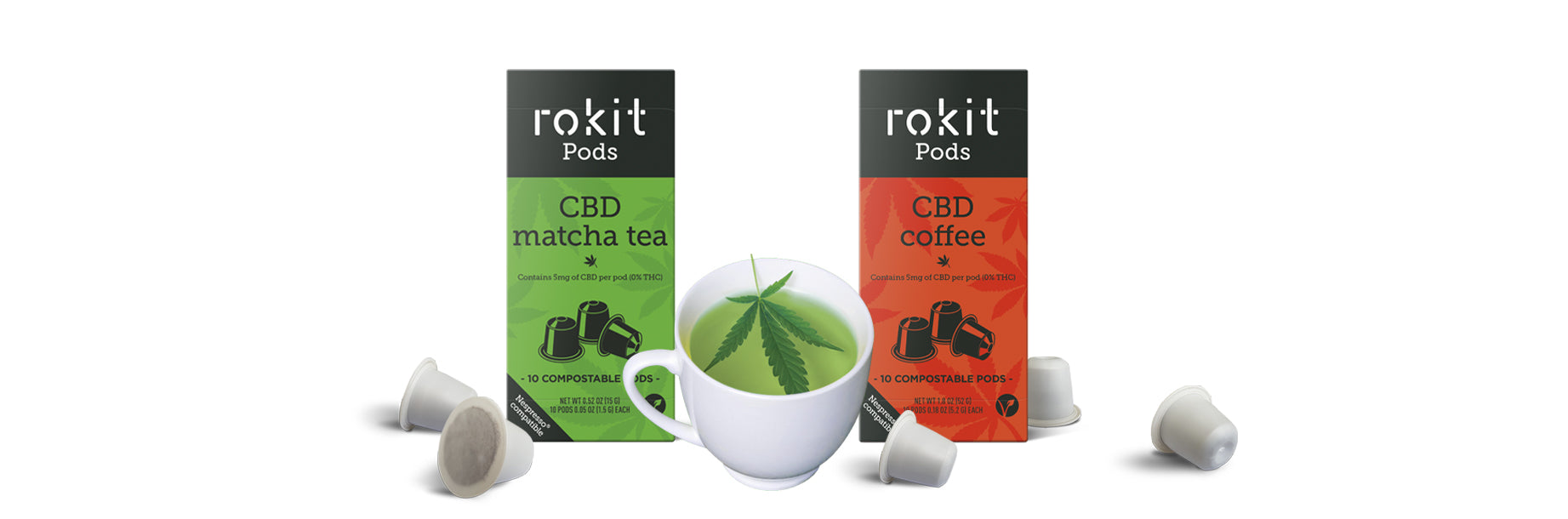 CBD Coffee Pods & CBD Matcha Pods