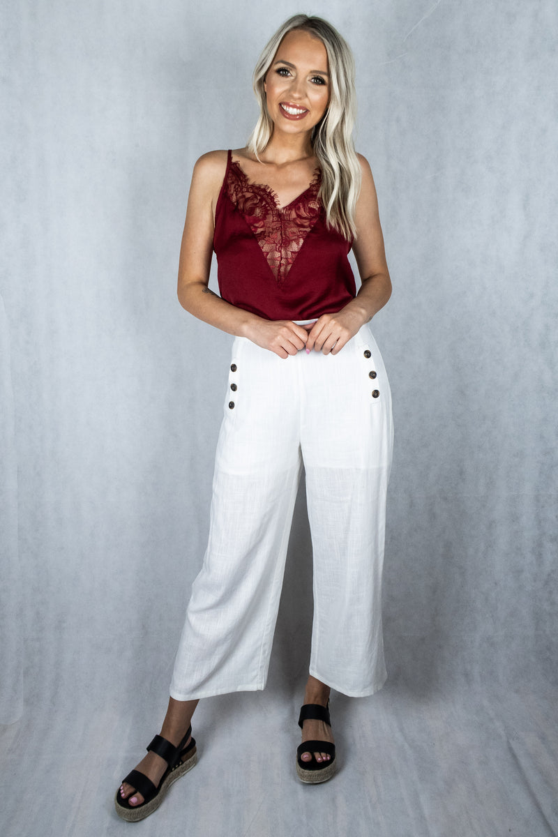 Any Way You Want It Linen Pants - Ivory - VOLATILE